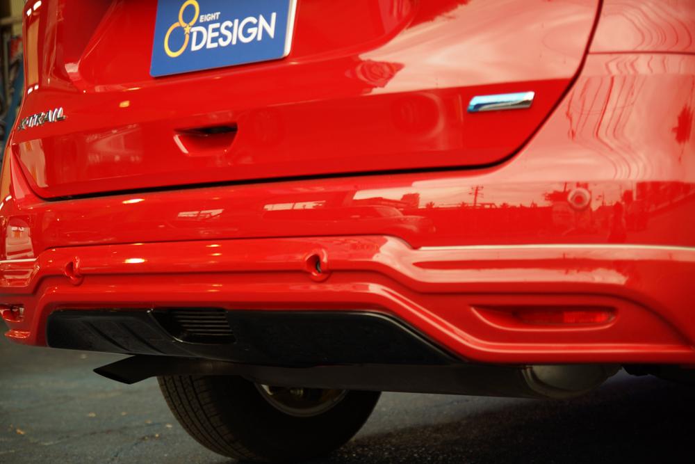 T32 エクストレイル カスタムパーツ リアハーフスポイラー センサー対応